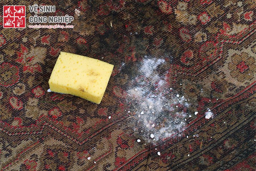 baking soda khử mùi thảm trải sàn