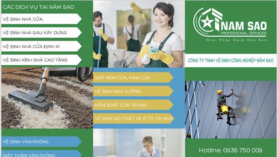 vệ sinh công nghiệp chuyên nghiệp Năm Sao