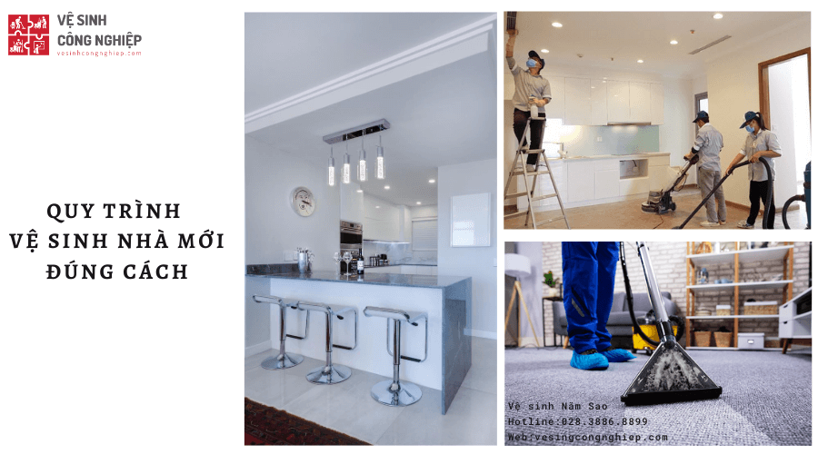 quy trình vệ sinh nhà sau xây dựng