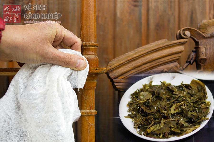 lau đồ gỗ bằng bã trà