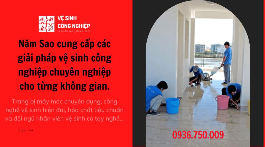 Sử dụng dịch vụ vệ sinh nhà cửa quận 1 tại Năm Sao