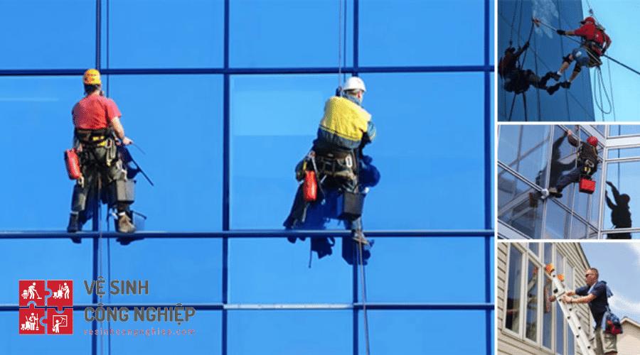 Tại sao lau kính nhà cao tầng lại cần đơn vị cung cấp dịch vụ